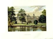Old Antique Print 1880 Wilton House Wiltshire Earl Pembroke Montgomery 0 19th