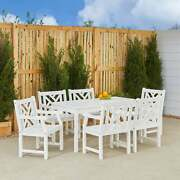 Bradley 7-piece Table/ Arm Chair Outdoor Dining Set White 7-piece Sets