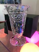 Waterford Crystal 18th Century Neo Classical Design Penrose Vase 8.5 Inches.
