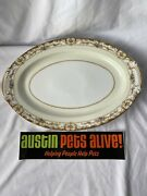 Gold China Made In Occupied Japan, Large Oval Serving Dish, 15 7/8