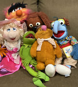 Lot Of 6 Vintage Jim Henson Muppets Plush And Puppets Fisher Price And Eden Toys