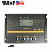 80a Pwm Solar Charge Controller Regulator With Usb 12/24v Auto Work Us Stock