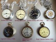 The Seven Magnificent Antique/vintage Pocket Watches All Serviced And Working