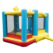1 Pcs Inflatable Castle Bounce House Kids Slide Playhouse With Ball Pit Canopy