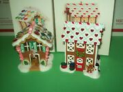 Hallmark Lot Bake Shop And Gingerbread Lane 2nd And 3rd Noelville 2007-08 Ornaments