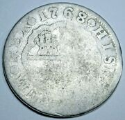 1768/7 Overdate Error Spanish Silver 2 Reales Antique 1700s Colonial Pirate Coin