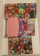 Leap Frog Leap Pad Original Learning System Purple And Pink With 6 Games