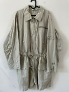 Vintage Dkny Jeans 90andrsquos Utility Boiler Playsuit Dog Tags Beige Shorts Size 10 R4