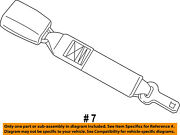 Chrysler Oem Front Seat Belts-extension 5179969aa