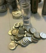 50 Uncirculated Bu Roosevelt Dime Roll 90 Silver 1960-1964 Five Dollar Face Coin
