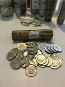 46 Not 50 Uncirculated Bu Roosevelt Dime Roll 90 Silver 1964 5 Dollar Face Coin