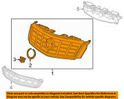 Cadillac Gm Oem 13-16 Xts Front Bumper Grille-upper Grill 23473085