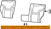 Jeep Chrysler Oem 2017 Renegade Rear Seat-seat Cover-top Back Left 6am18px1aa
