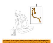 Gm Oem Second Row Seat-restraint System-outer Belt Assembly Left 19355564