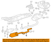Chevrolet Gm Oem 16-18 Cruze 1.4l-l4 Exhaust System-front Pipe 39139524