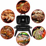 1 Pcs Charcoal Grill Portable Grill Bbq And Smoker W/lid Folding Tabletop Grills
