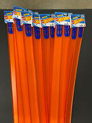 """Hot Wheels Track Builder 24"""" Pieces 2ct Orange Tracks W/connectors New Lot Of 10"""
