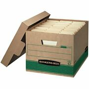 Bankers Box Stor/file Medium-duty Storage Boxes Fastfold Lift-off Lid 100 Re...