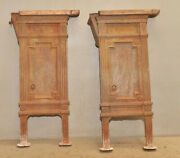 2 Cast Iron Art Deco Gothic Style Movie Theater Seat Base Industrial Table Stand