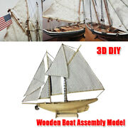 Diy Shipping Assembly Model Classical Wooden Sailing Boat Scale Wood Kits Gift