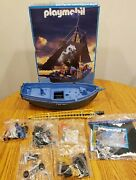 [new Complete] Vintage Playmobil 3860 Black Corsair Pirate Ship Boat Sealed Bags