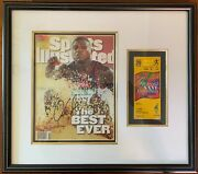 Carl Lewis Signed Sports Illustrated Olympics Gold Auto Framed W/ticket Rare