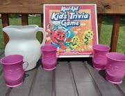 Retro Kool Aid Pitcher 4 Cups And Game Bundle 80and039s Retro Trivia Board Game Oh Yeah
