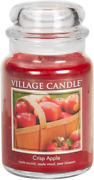 Village Candle Crisp Apple Large Glass Apothecary Jar Scented Candle 21.25 Oz