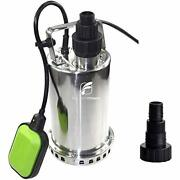 Fluentpower 3/4 Hp Utility Pump Full Stainless Casing Submersible Sump Water ...