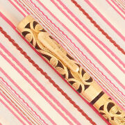 Vintage Conklin Crescent Gold Heath Filigree Etched Floral Overlay Fountain Pen