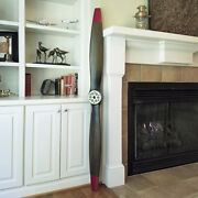 Wwi Replica Wood Wooden Airplane Aircraft Propeller 73 Red Tips Antique Finish