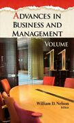 Advances In Business And Management, Hardcover By Nelson, William D. Edt, L...