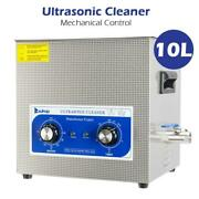 10l Capacity Tank Ultrasonic Cleaner Solution Jewelry Glasses Carbs Lab Clinic