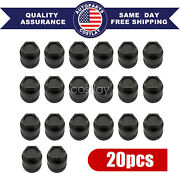 Fit For Buick Chevrolet Gmc Chevy 20 Pcs Black Lug Nut Covers Cap