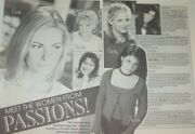 Liza Huber Lindsay Korman Full Paged Magazine Celebrity Clippings Photos Article