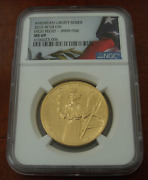Us 2015 W Gold 1 Oz 100 Ngc Ms69 American Liberty Series - High Relief