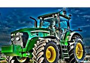 Green Tractor Diamond Painting Design Portrait House Wall Decorations Embroidery