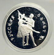 1993 Russia Russian Ballet Dancers Vintage Old Proof Silver 3 Rouble Coin I94156