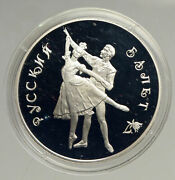 1993 Russia Russian Ballet Dancers Vintage Old Proof Silver 3 Rouble Coin I94162