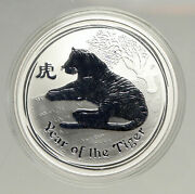 2010 Australia Year Of Tiger Chinese Old Zodiac Proof Silver Dollar Coin I94167