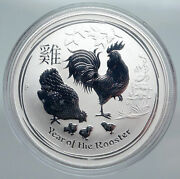 2017 Australia Year Of Rooster Chinese Zodiac Proof Silver Dollar Coin I89924