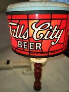 Vintage Falls City Beer Sign Sconce Utica Club Duke Iroquois Pabst Trommers