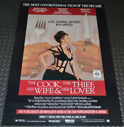 The Cook The Thief His Wife And Her Lover 1990 Orig. Video Release Movie Poster