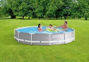 Intex 26711eh 12ft X 30in Prism Frame Pool Set With Filter Pump, Light Grey