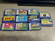Leap Frog Leapster 11 Game Lot Star Wars, Scooby Doo, Spongebob, Math And Read