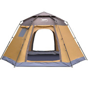 Pop-up Automatic Tent 3-4 Person Instant Camp Tent Backpacking Family Dome Tents