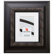 Craig Frames Gotham, 3.5 Wide Ornate Black Wood Picture Frame With A Mat