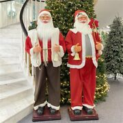 Christmas Ornaments Hotel Mall 1.8m/5.9 Feet Santa Claus Welcome Decoration-2022