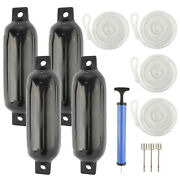 Realplus 4 Pcs Ribbed Boat Fenders Inflatable Bumpers Dock Protection 4.5 X16