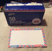 """Vintage Hilroy Air Mail Envelopes Lot Of 12 3 5/8"""" X 6 1/2"""" A3"""